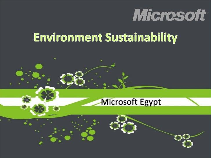 Microsoft environment university presentation