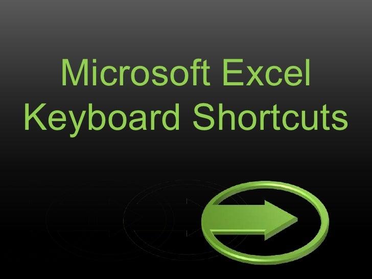 Microsoft excel keyboard shortcuts