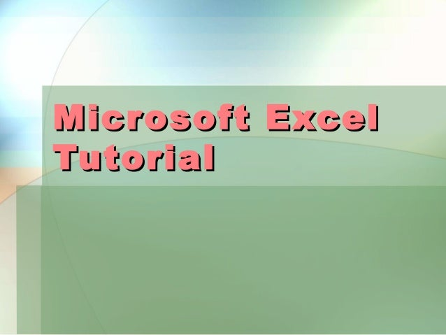 Microsoft excel tutorial06