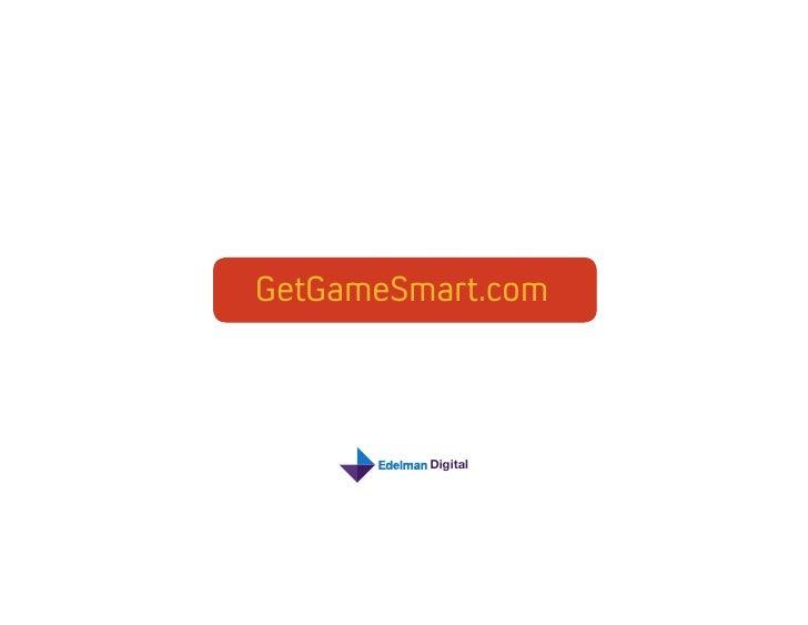 Microsoft: Get Game Smart Portfolio