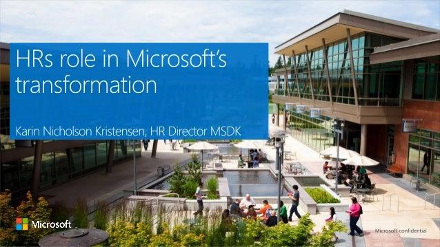 Microsoft HR i en ny æra