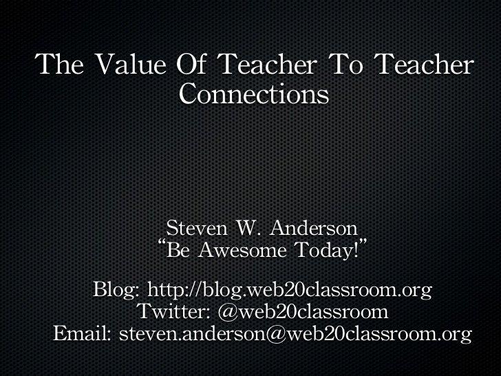 #PILUS 2012 Presentation-Social Media For Teacher Connections