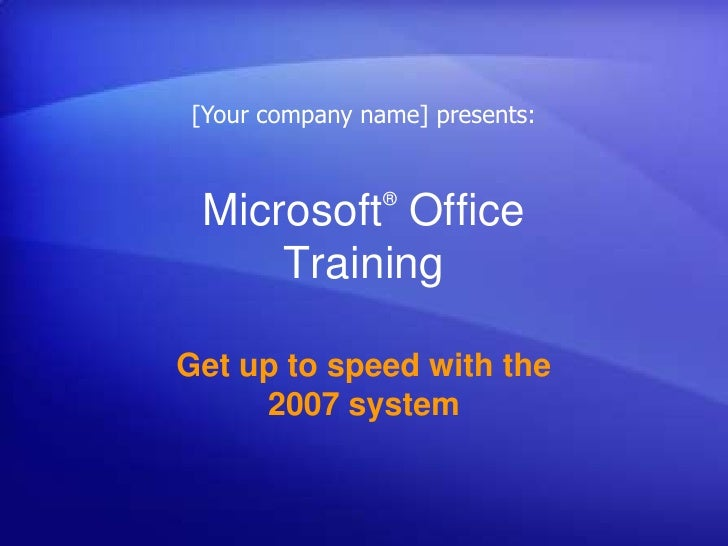 Microsoft® Office Training