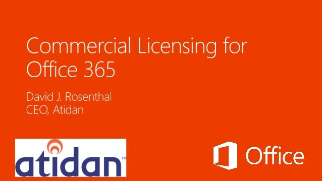 Microsoft Office 365 Commercial Licensing from Atidan