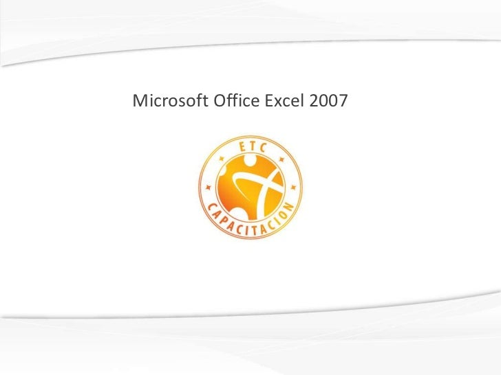 Microsoft office excel 2007 english