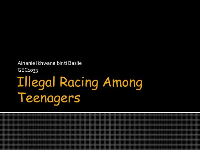 illegal racing among teenager In malaysia, there is a strong motorcycle racing culture among some malaysian  youth, known as mat rempit in malay language most of the.