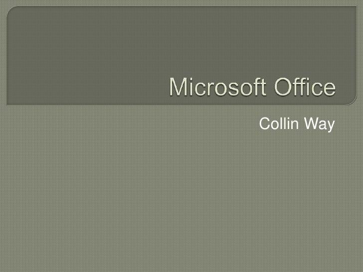 Microsoft Office Presentation