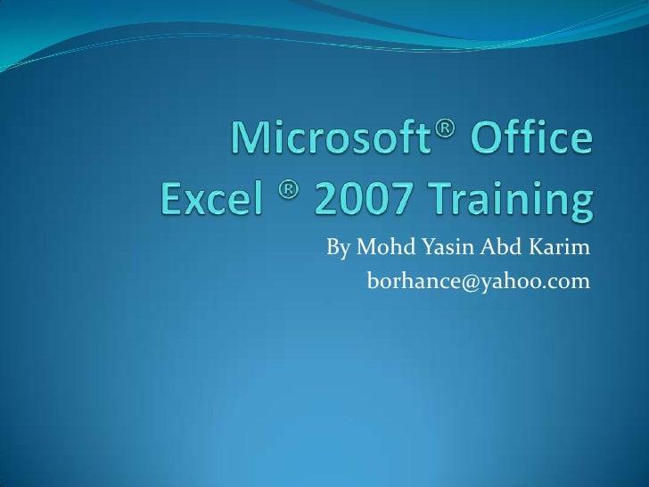Microsoft<sup>®</sup> office training