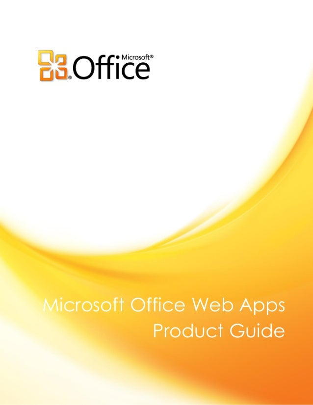 Microsoft office web apps product guide final
