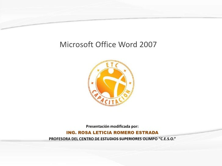 Microsoft office word  2007 e agm
