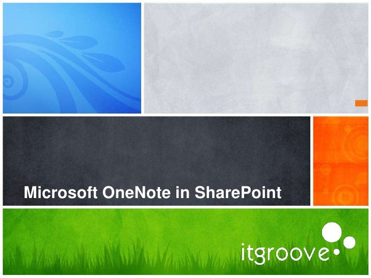 Microsoft OneNote in SharePoint