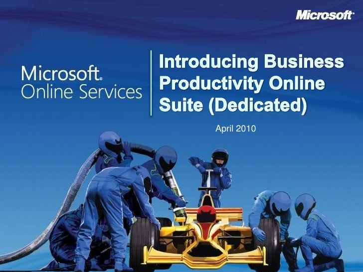 Reduce Capital & Operational Expenses with Business Productivity Online Suite