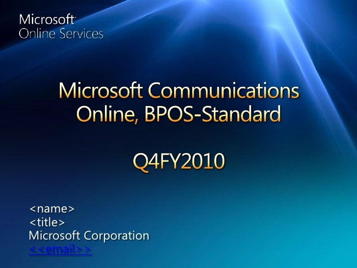 Cloud Based Communications Solutions from Microsoft