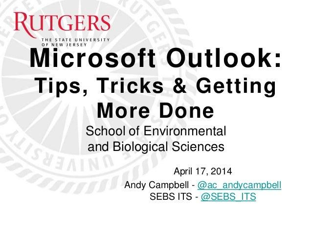 Microsoft Outlook Tips & Tricks