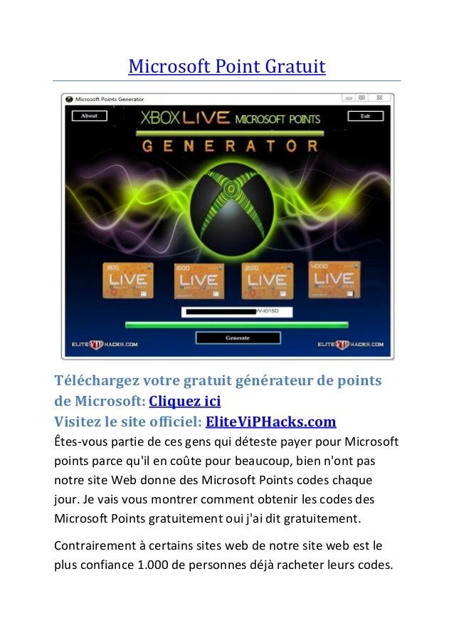Microsoft Point Gratuit Téléchargez votre gratuit générateur de points de Microsoft: Cliquez ici Visitez le site officiel:...