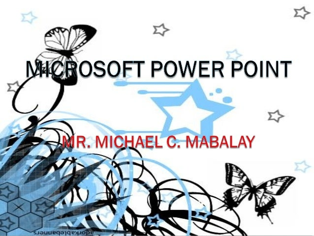 Microsoft PowerPointis a presentation program developed by Microsoft. It   is part of the Microsoft Office suite, and runs...
