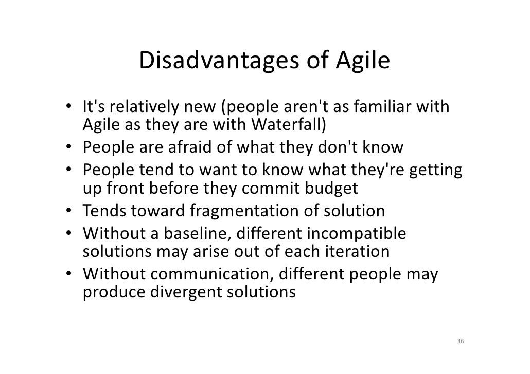 Agile project management part 1 final for Waterfall methodology advantages and disadvantages