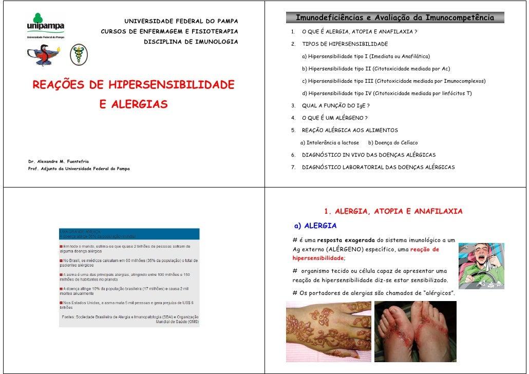 Reaes De Hipersensibilidades e Alergias - Imunologia
