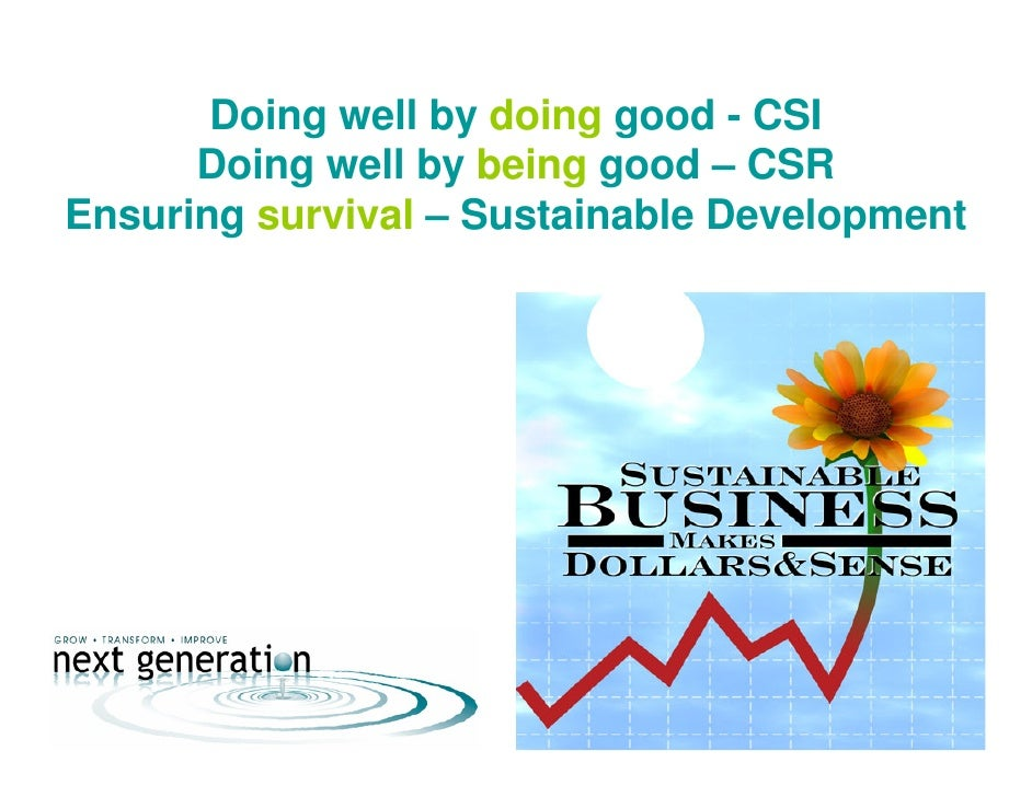 csr and sustainable development 2009 2012 Development in their corporate social responsibility models, using industries in cameroon as a case study it examined economic, social, and environmental components of sustainable development and corporate social responsibility (csr.