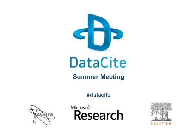 Summer Meeting #datacite