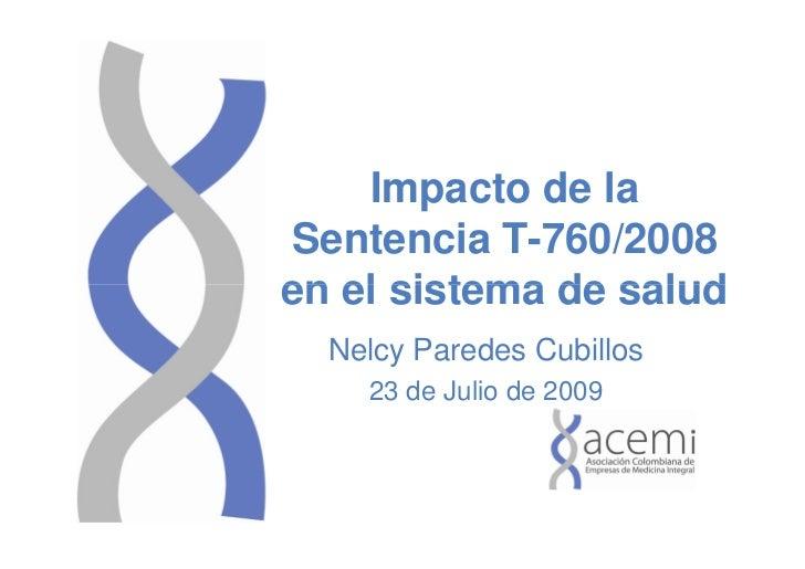 Gestión Reforma y Control del Sistema de Salud Colombiano
