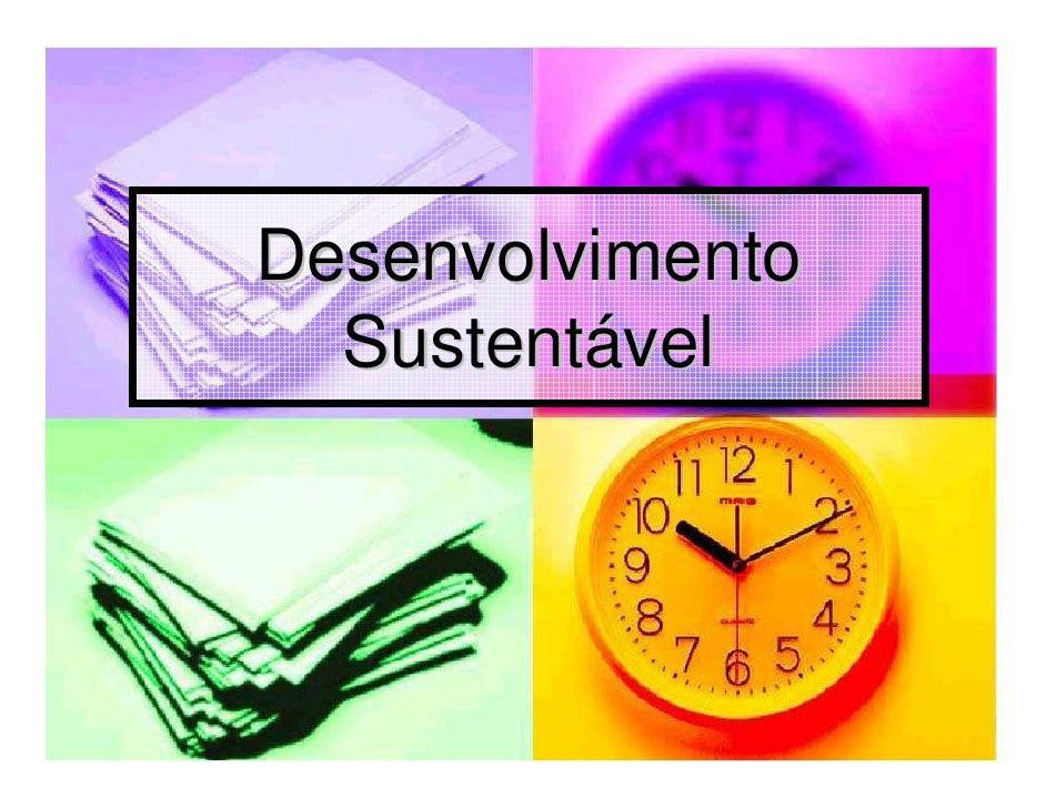 Microsoft power point   desenvolvimento sustentável