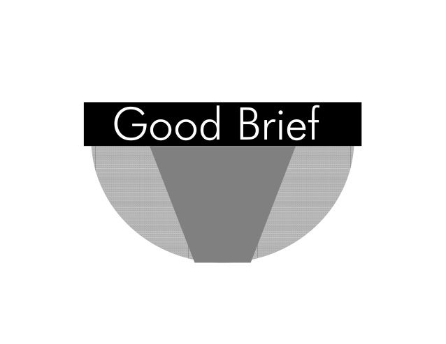 writing good creative briefs Writing an effective design brief: creative brief specified specified design for print and online so this is all good information to know ahead of time.
