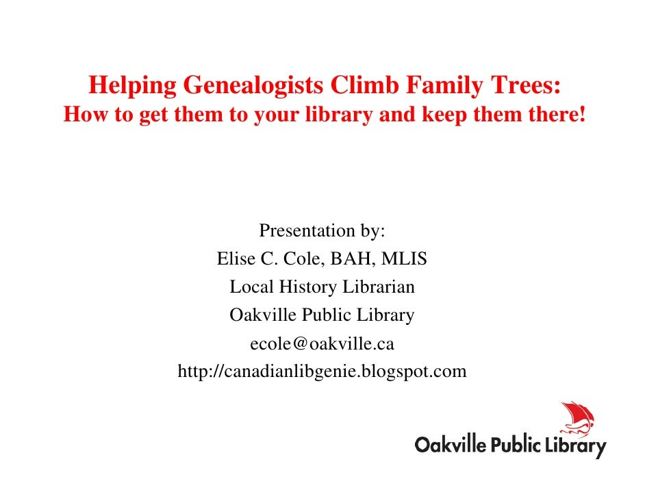 Helping Genealogists Climb Family Trees June 2008