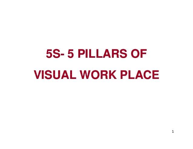 5S5S-- 5 PILLARS OF5 PILLARS OF VISUAL WORK PLACEVISUAL WORK PLACE 1 VISUAL WORK PLACEVISUAL WORK PLACE