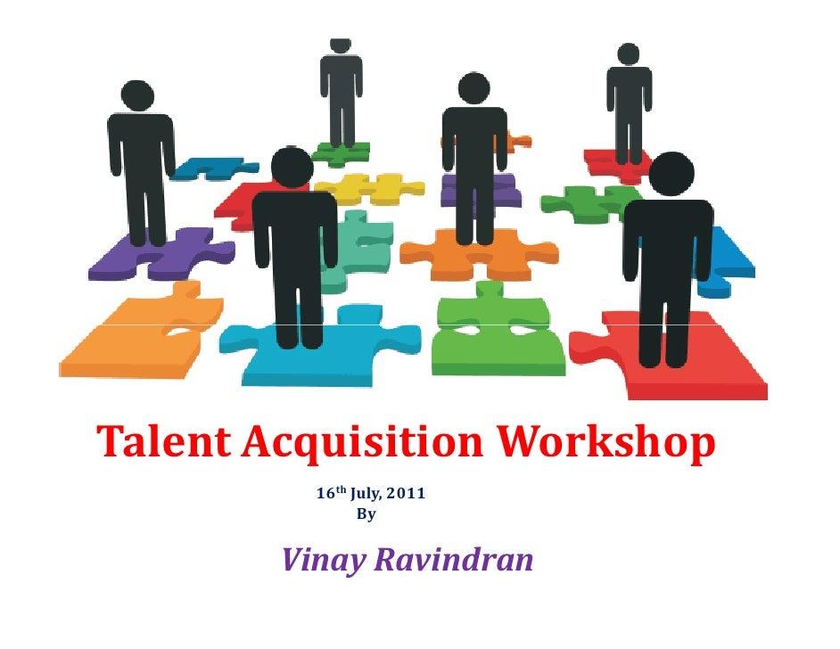 Talent Acquisition/ Recruitment Workshop