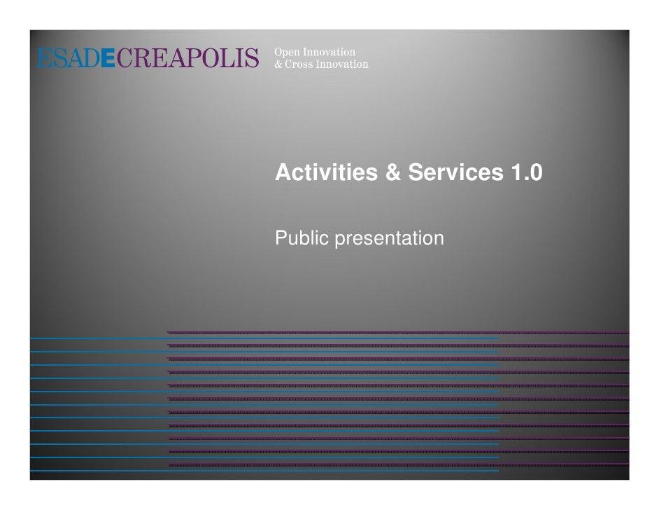 Activitats i Serveis 1.0