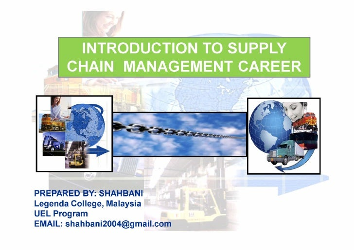 Introduction To Supply Chain Management  Week 1