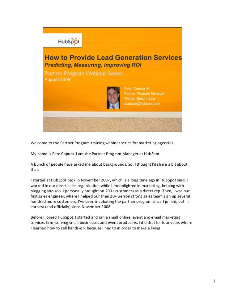 How Marketing Agencies Should & Could Start Delivering Lead Generation Services in Order to Generate an ROI for Their Clients