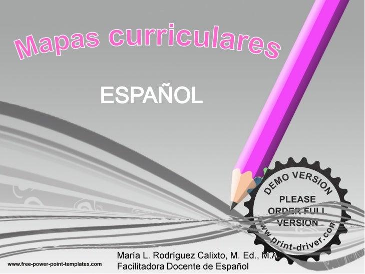 Mapas curriculares de español
