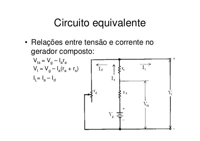 Circuito Cc : Microsoft power point motores e geradores cc a