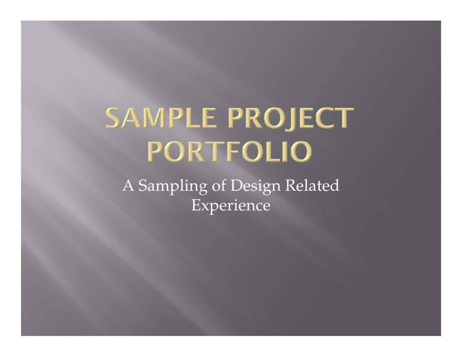 Sample Engineering Design Projects