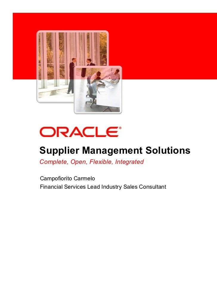 Oracle Procurement Channel