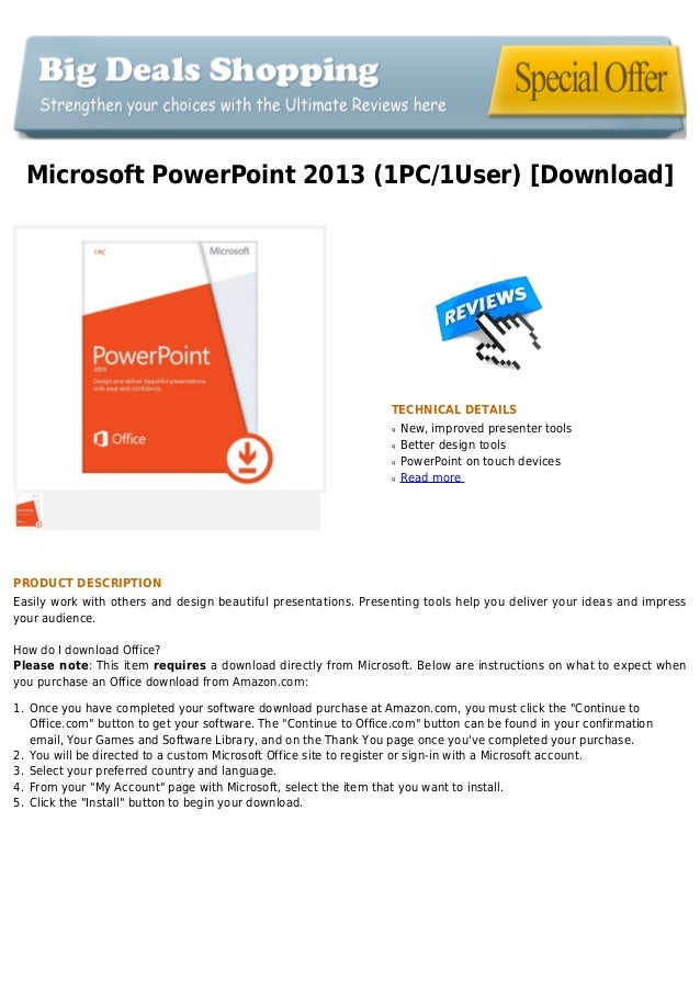 Microsoft power point 2013 (1pc 1user) [download]