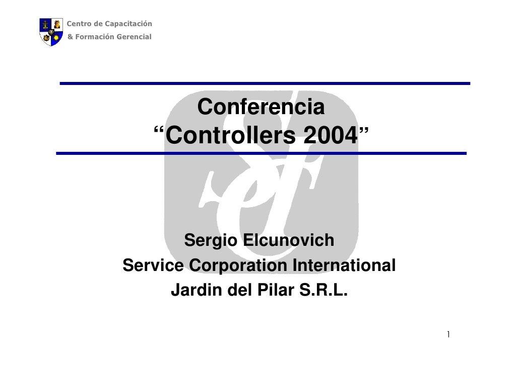 """Centro de Capacitación & Formación Gerencial                                 Conferencia                          """"Control..."""