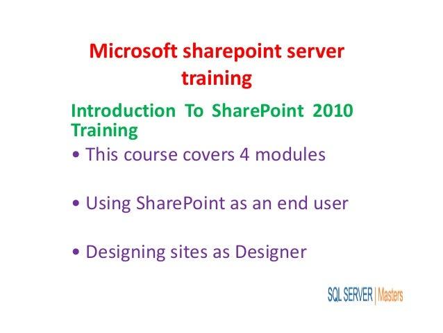 Microsoft sharepoint server training