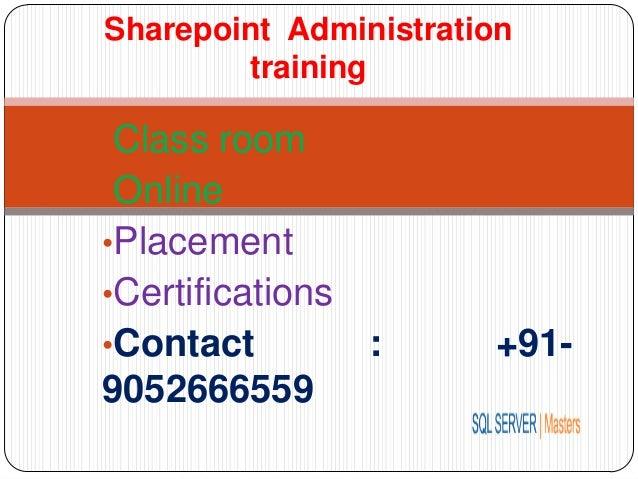 Sharepoint Administration training