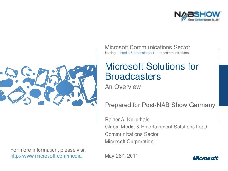 Microsoft Solutions for Broadcasters