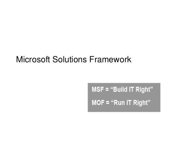 microsoft solutions framework Microsoft solutions framework (модель разработки приложений microsoft) —  это набор концепций и рекомендуемых моделей, которые позволяют.