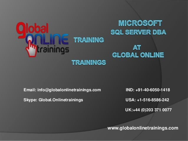 PRACTICAL SQL Admin ONLINE TRAINING with, India, Professional Courses ...