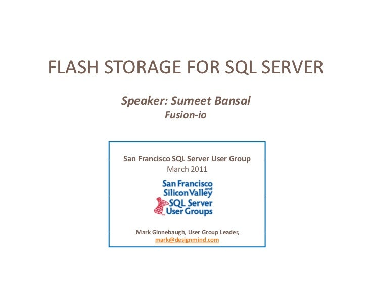 Microsoft SQL Server Flash Storage