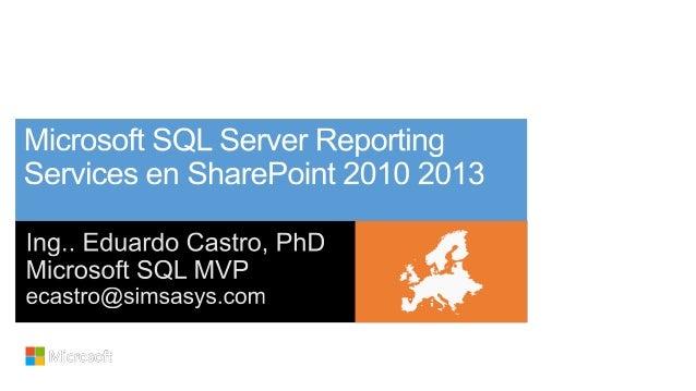 SQL Server Reporting Services integrado con SharePoint