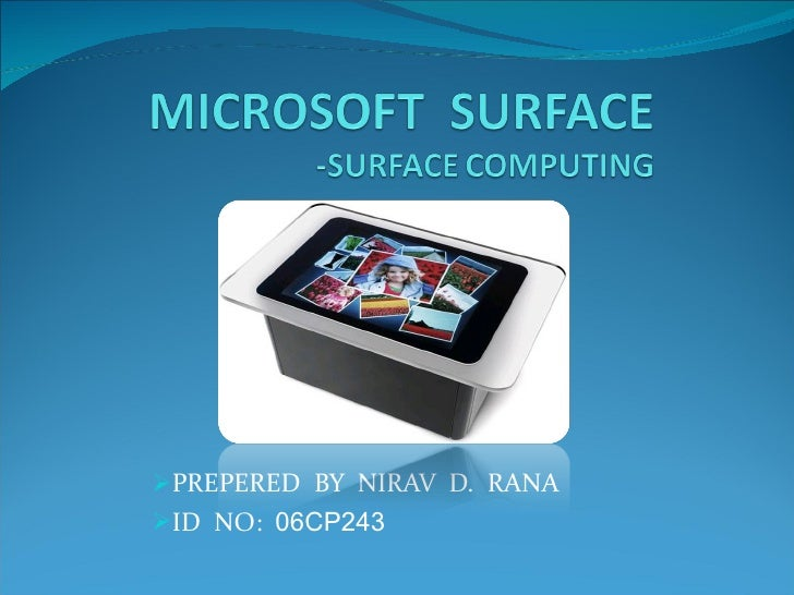 Microsoft surface by NIRAV RANA