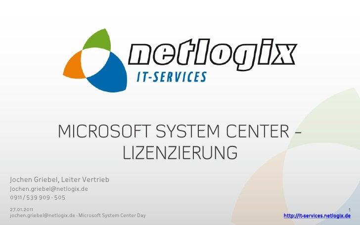 Microsoft System Center - Lizenzierung