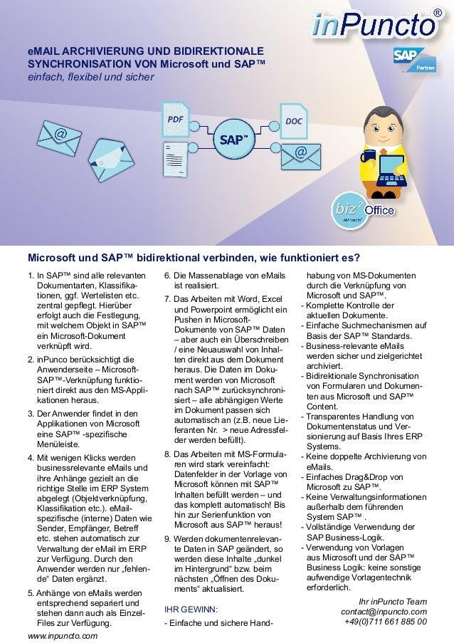 Verbinden Sie die Welten von Microsoft und SAP™