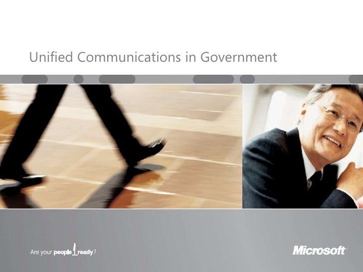 Microsoft Unified Communications in Government, Presentation